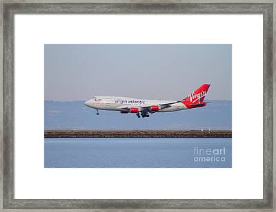Virgin Atlantic Airways Jet Airplane At San Francisco International Airport Sfo . 7d12193 Framed Print by Wingsdomain Art and Photography