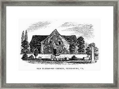 Virginia: Petersburg Church Framed Print by Granger
