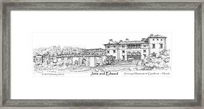 Vizcaya For Jane And Edward Framed Print by Building  Art