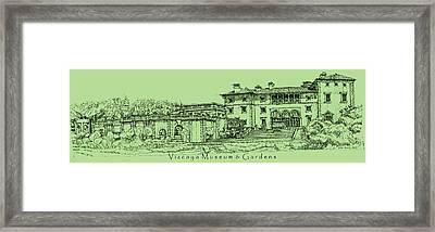 Vizcaya In Olive Green  Framed Print by Building  Art