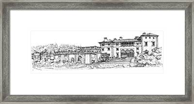 Vizcaya Museum And Gardens  Framed Print by Building  Art