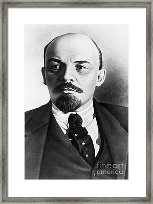Vladimir Lenin, Russian Marxist Framed Print by Photo Researchers