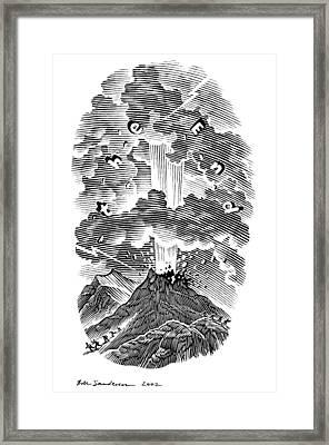 Volcanic Eruption, Artwork Framed Print by Bill Sanderson