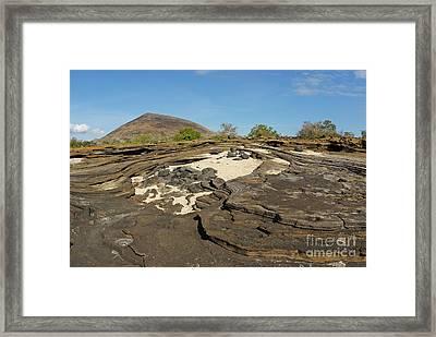 Volcanic Landscape At Punta Vincente Roca Framed Print by Sami Sarkis