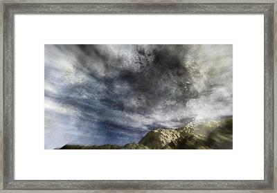 Vortex In The Sky Framed Print by Georgiana Romanovna