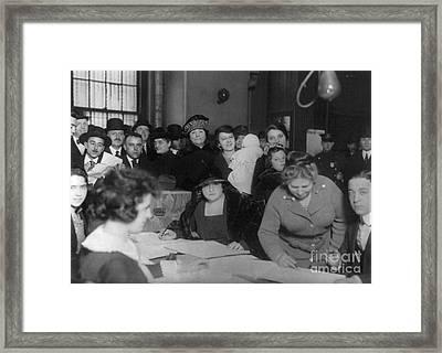Voting Poll, 1922 Framed Print by Granger