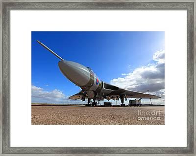Vulcan Xh558 Framed Print by Clare Scott
