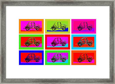 Vw Beatle 1b Framed Print by Mauro Celotti