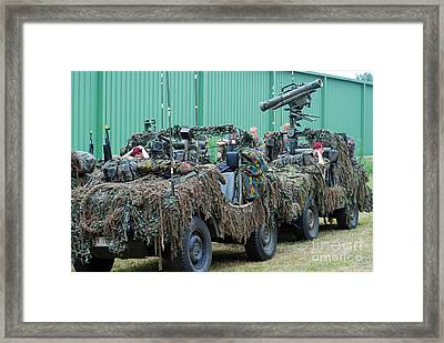 Vw Iltis Jeeps Of A Recce Scout Unit Framed Print by Luc De Jaeger