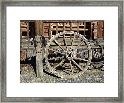 Wagon Wheel Framed Print by Charles Robinson
