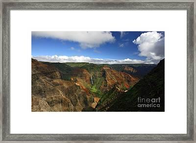 Waimea Canyon Landscape Framed Print by Mike Reid