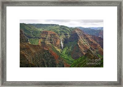 Waimea Falls Framed Print by Mike Reid