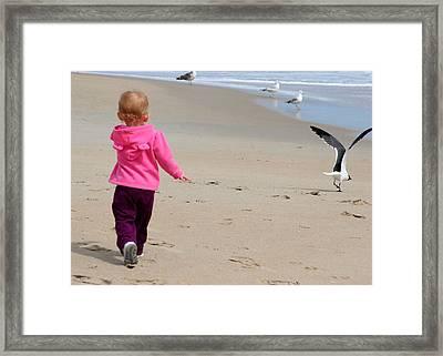 Wait For Me Framed Print by Paula Tohline Calhoun