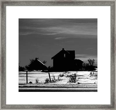 Waiting By The Pain Framed Print by Jerry Cordeiro