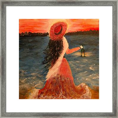 Waiting Framed Print by Debra Kent