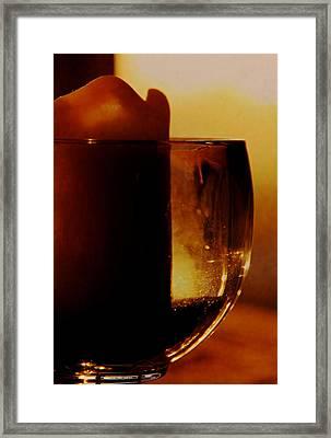 Waiting For A Light Framed Print by Odd Jeppesen
