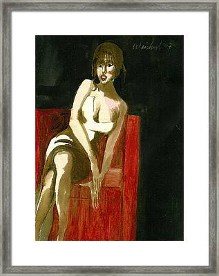 Waiting For Mr Right  3d Framed Print by Harry WEISBURD