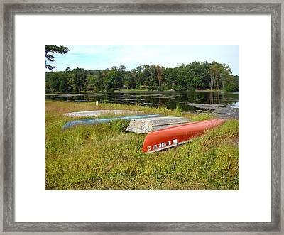 Waiting For One Last Summer Voyage Framed Print by Mother Nature