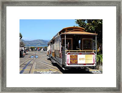 Waiting For The Cablecar At Fishermans Wharf . San Francisco California . 7d14099 Framed Print by Wingsdomain Art and Photography