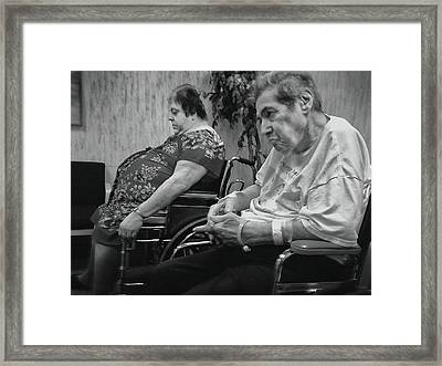Waiting For The Ride Back Framed Print by Dennis Sullivan