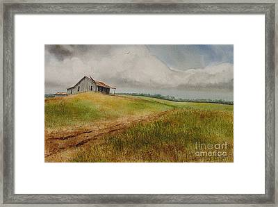 Waiting For The Summers Rain Framed Print by Charles Fennen