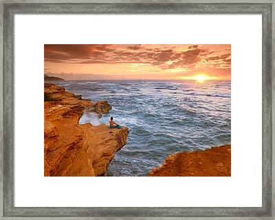 Waiting For The Sun Framed Print by Alan Hart