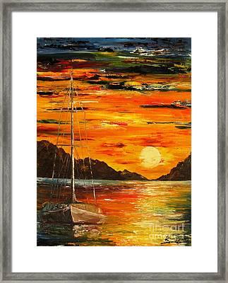 Waiting For The Sunrise Framed Print by AmaS Art