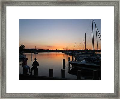 Waiting For The Sunrise Framed Print by Valia Bradshaw