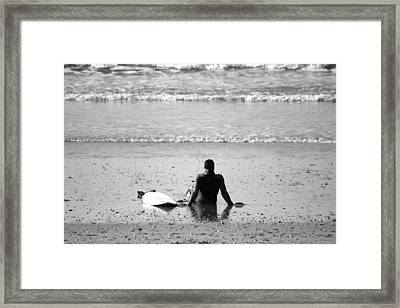 Waiting For The Wave Framed Print by Zarija Pavikevik