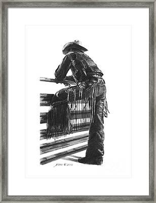 Waiting  Framed Print by Marianne NANA Betts