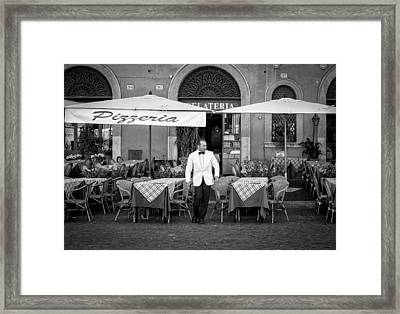 Waiting Framed Print by Michael Avory