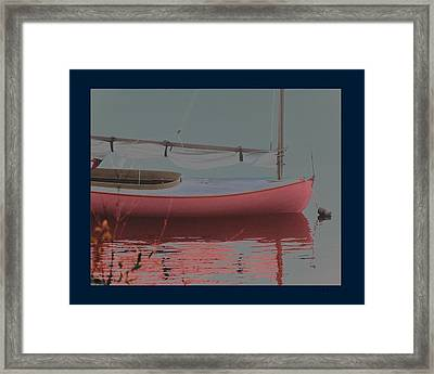 Waiting To Sail Framed Print by Rene Crystal