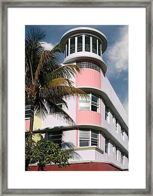 Waldorf Towers Hotel 2. Miami. Fl. Usa Framed Print by Juan Carlos Ferro Duque