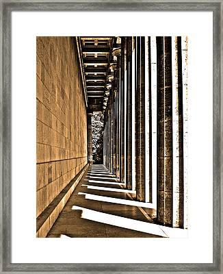 Walhalla Colonnade ... Framed Print by Juergen Weiss