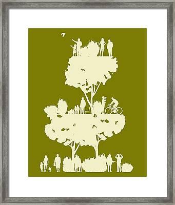 Walk In The Park Framed Print by Bojan Bundalo