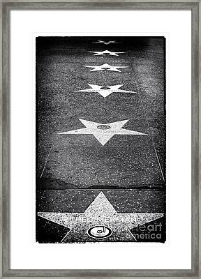 Walk Of Fame Framed Print by John Rizzuto