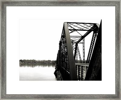 Walking Bridge Framed Print by Jonathan Lagace
