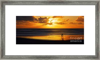 Walking Into The Sunlight Framed Print by Hannes Cmarits