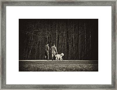 Walking The Dog Framed Print by Off The Beaten Path Photography - Andrew Alexander