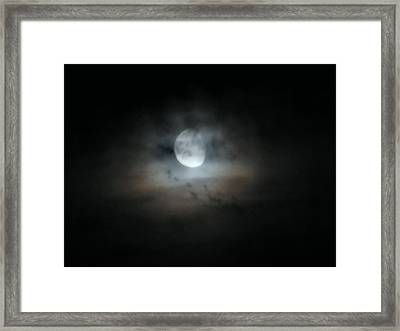 Walking With The Moon Framed Print by Rory Sagner