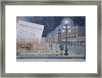 Wall Art Moose Jaw 2 Framed Print by Bob Christopher