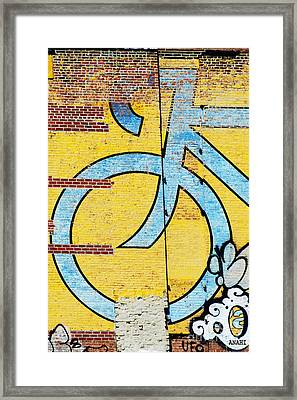 Wall Bike Licensing Art Framed Print by Anahi DeCanio