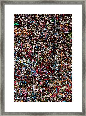 Wall Of Gum Framed Print by Garry Gay