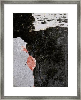 Wall Texture Number 6 Framed Print by Carol Leigh