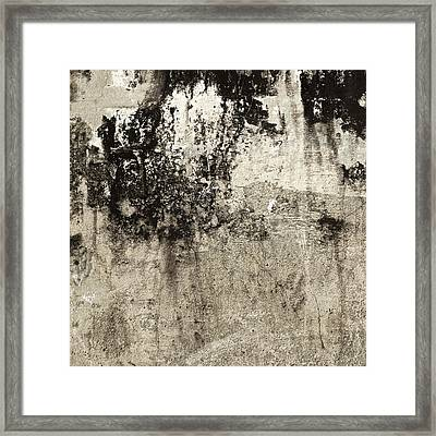 Wall Texture Number 9 Framed Print by Carol Leigh