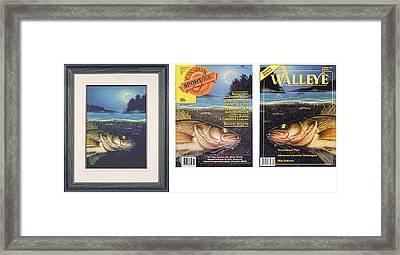walleye Moon Framed Print by JQ Licensing