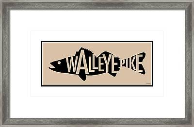 Walleye Pike Framed Print by Geoff Strehlow