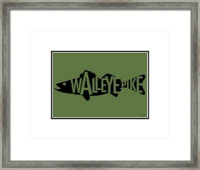 Walleye Print Framed Print by Geoff Strehlow
