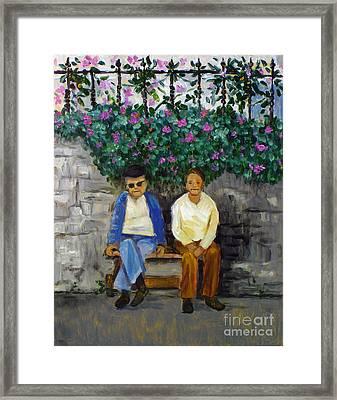 Wallflowers Framed Print by Hilary England