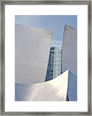 Walt Disney Music Hall Detail Framed Print by Loud Waterfall Photography Chelsea Sullens